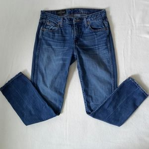 Womens J CREW Vintage straight leg washed jeans